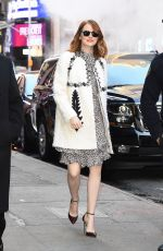 EMMA STONE Arrives at Good Morning America in NEw York 11/28/2016