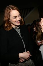 EMMA STONE at Cocktail Relebration for Emma Stone and La La Land in Los Angeles