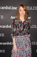 EMMA STONE at Contenders 2016: Presented by Deadline in Los Angeles 11/05/2016