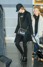 EMMA STONE at JFK Airport in Los Angeles 11/22/2016