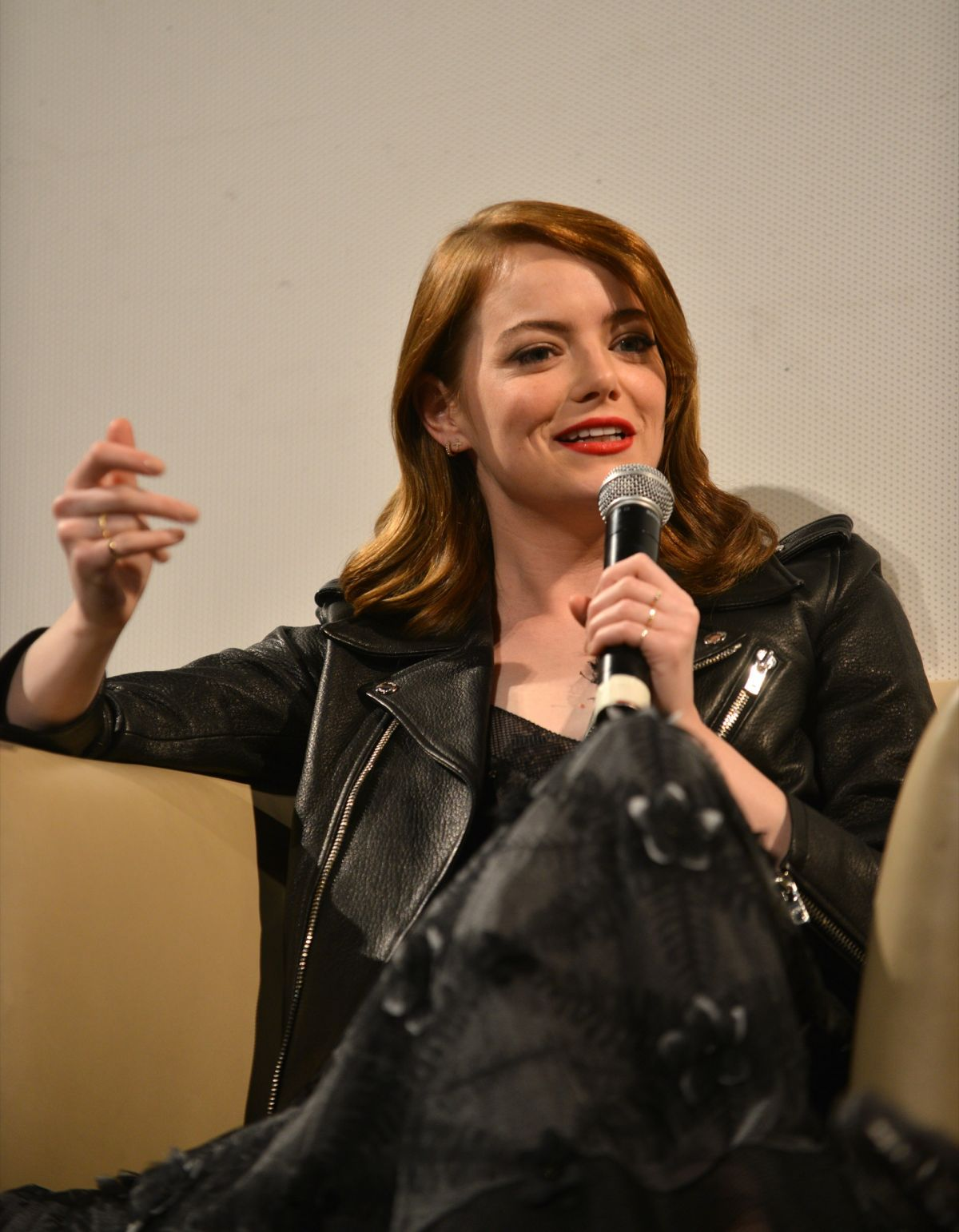 EMMA STONE at 'La La Land' Press Confernece at 39th Denver Film ...