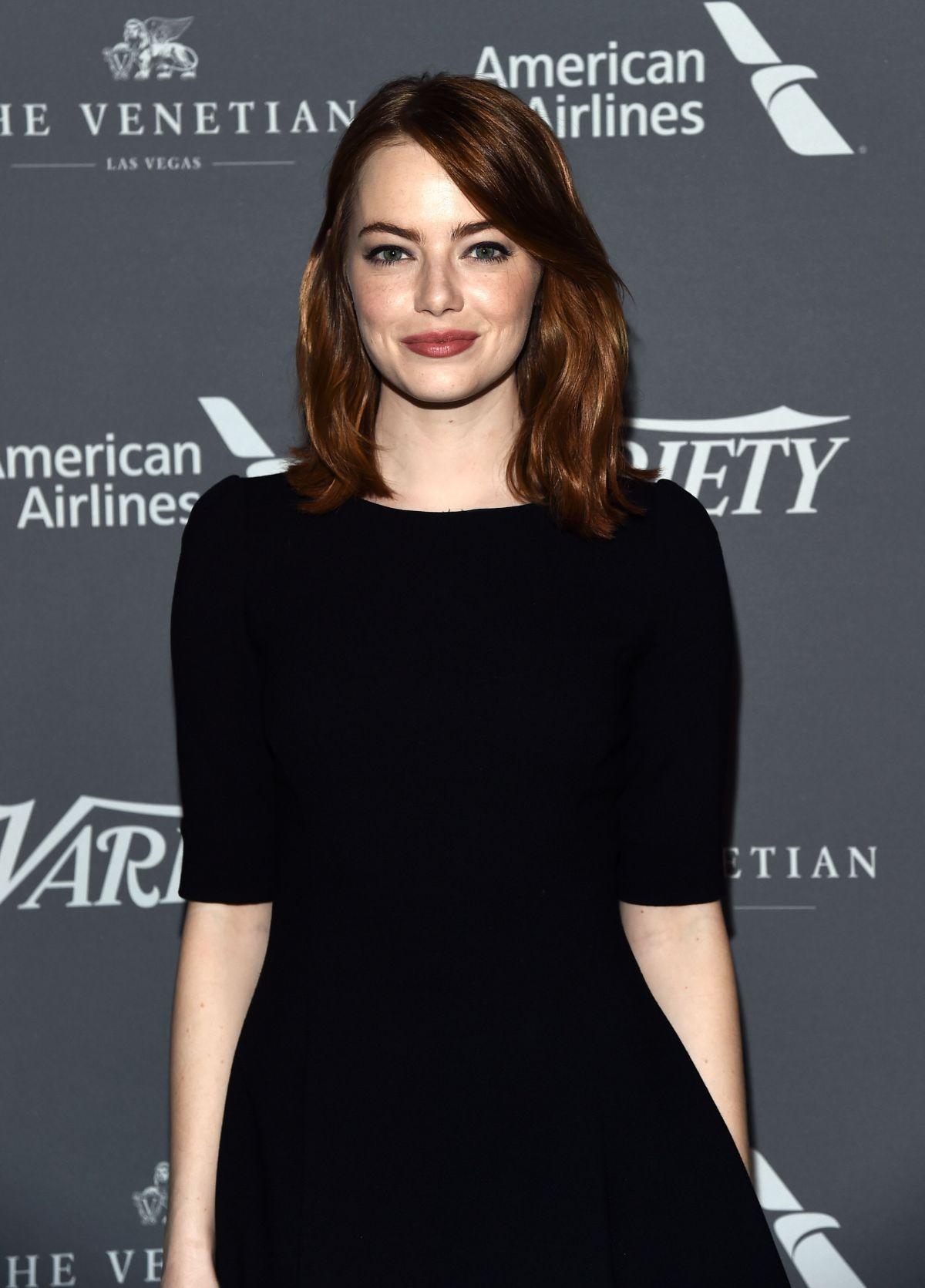 EMMA STONE at Variety Studio: Actors on Actors in Los Angeles 11/12/2016