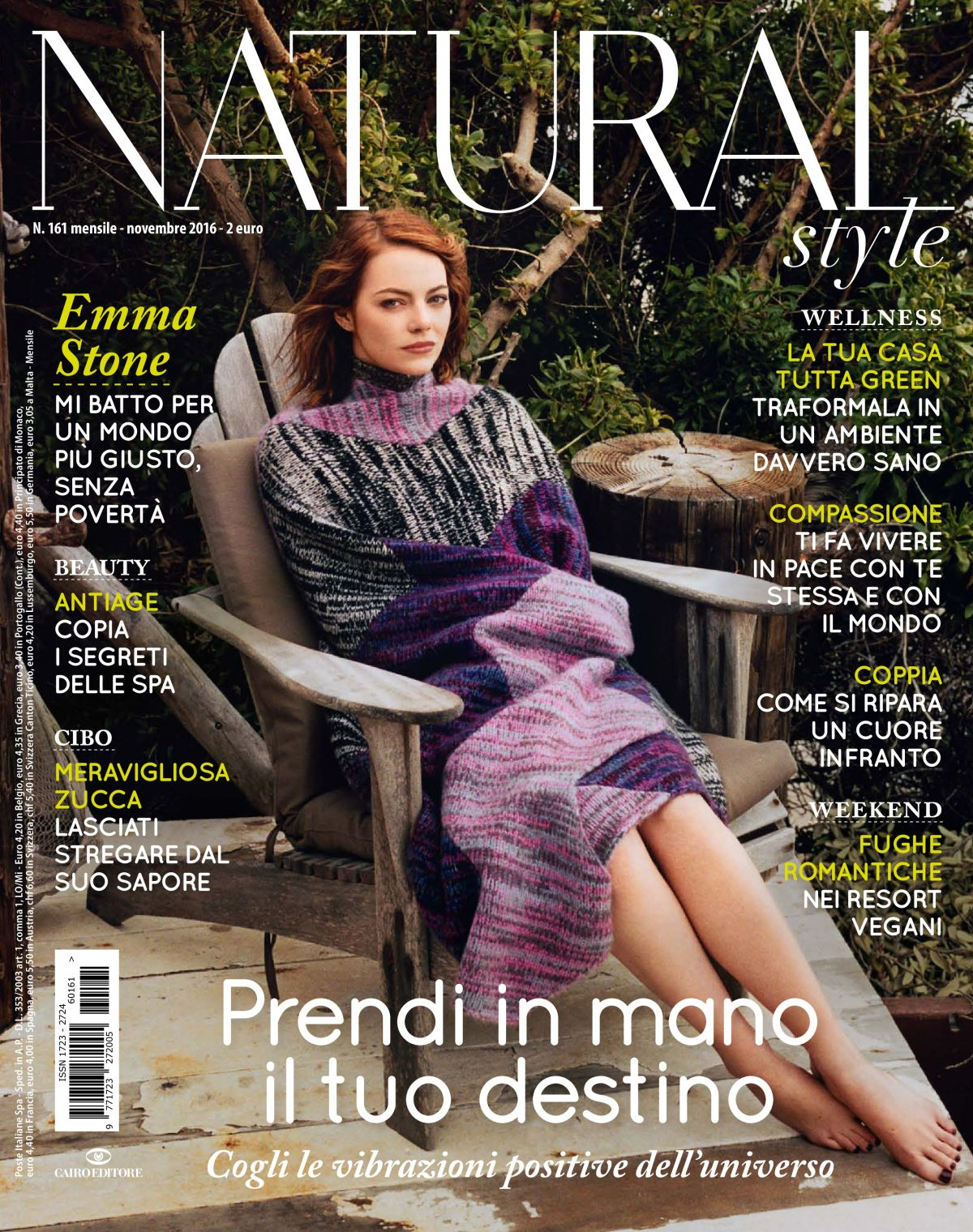 EMMA STONE in Natural Style Magazine, Iitaly November 2016