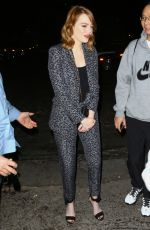 EMMA STONE Night Out in Los Angeles 11/19/2016