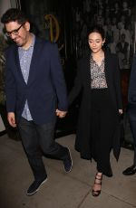 EMMY ROSSUM Leaves Catch LA in West Hollywood 11/16/2016