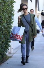 EMMY ROSSUM Shopping at Crate & Barrel in Beverly Hills 11/22/2016