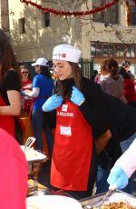 EMMY ROSSUM Volunteering at Los Angeles Mission