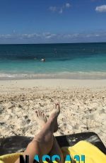 EUGENIE BOUCHARD in Bikini on Vacation in Bahamas, November 2016