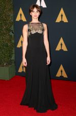 FELICITY JONES at AMPAS' 8th Annual Governors Awards in Hollywood 11/12/2016