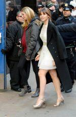 FELICITY JONES at GMA in New York 11/28/2016