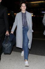 FELICITY JONES at LAX Airport in Los Angeles 11/14/2016