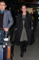 FELICITY JONES at LAX Airport in Los Angeles 11/24/2016