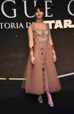 FELICITY JONES at Rogue One: A Star Wars Story Fan Event in Mexico City 11/22/2016