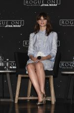 FELICITY JONES at Rogue One: A Star Wars Story Photocall in Mexico City 11/22/2016