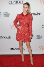 GENEVIEVE HANNELIUS at 1st Annual Marie Claire Young Women's Honors in Marina Del Rey 11/19/2016