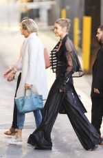 GIGI HADID Arrives at Jimmy Kimmel Live in New York 11/09/2016