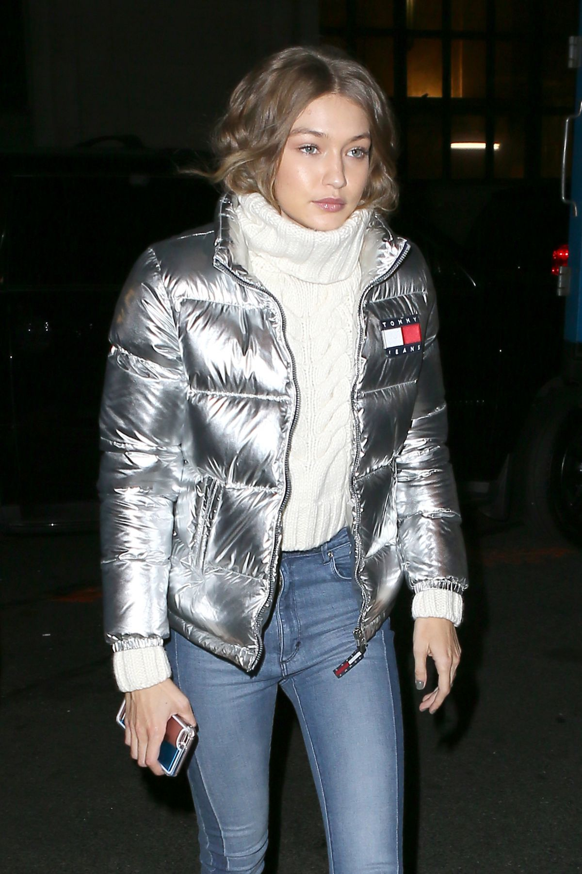 GIGI HADID Arrives at Tommy Hilfiger Event in New York 11/01/2016