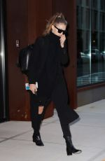 GIGI HADID Leaves Her Apartment in New York 11/12/2016