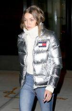 GIGI HADID Leaves Her Hotel in New York 11/01/2016