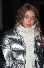 GIGI HADID Leaves Her Hotel in New York 11/01/2016
