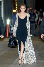 GIGI HADID Leaves Jimmy Kimml Live in New York 11/09/2016