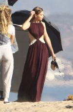 GIGI HADID on the Set of a Photoshoot in Malibu 11/17/2016