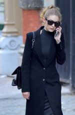 GIGI HADID Out and About in New York 10/31/2016