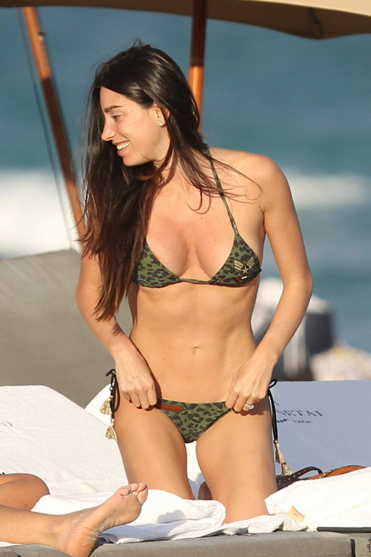 GIORGIA GABRIELE in Bikini at a Beach in Miami 11/23/2016