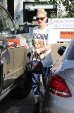 GWEN STEFANI Leaves a Nail Salon in West Hollywood 11/04/2016