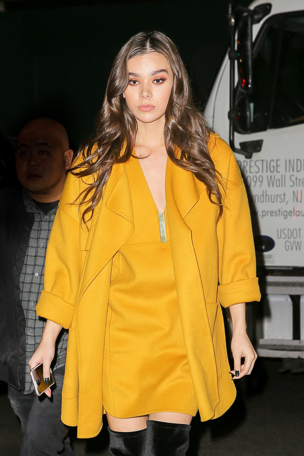 HAILEE STEINFELD Arrives at Her Hotel in New York 11/17/2016