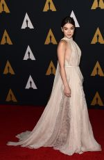 HAILEE STEINFELD at AMPAS' 8th Annual Governors Awards in Hollywood 11/12/2016