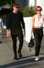 HAILEY BALDWIN and Ashton Irwin Out in West Hollywood 11/05/206
