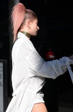 HAILEY BALDWIN Leaves M Cafe in Beverly Hills 11/10/2016