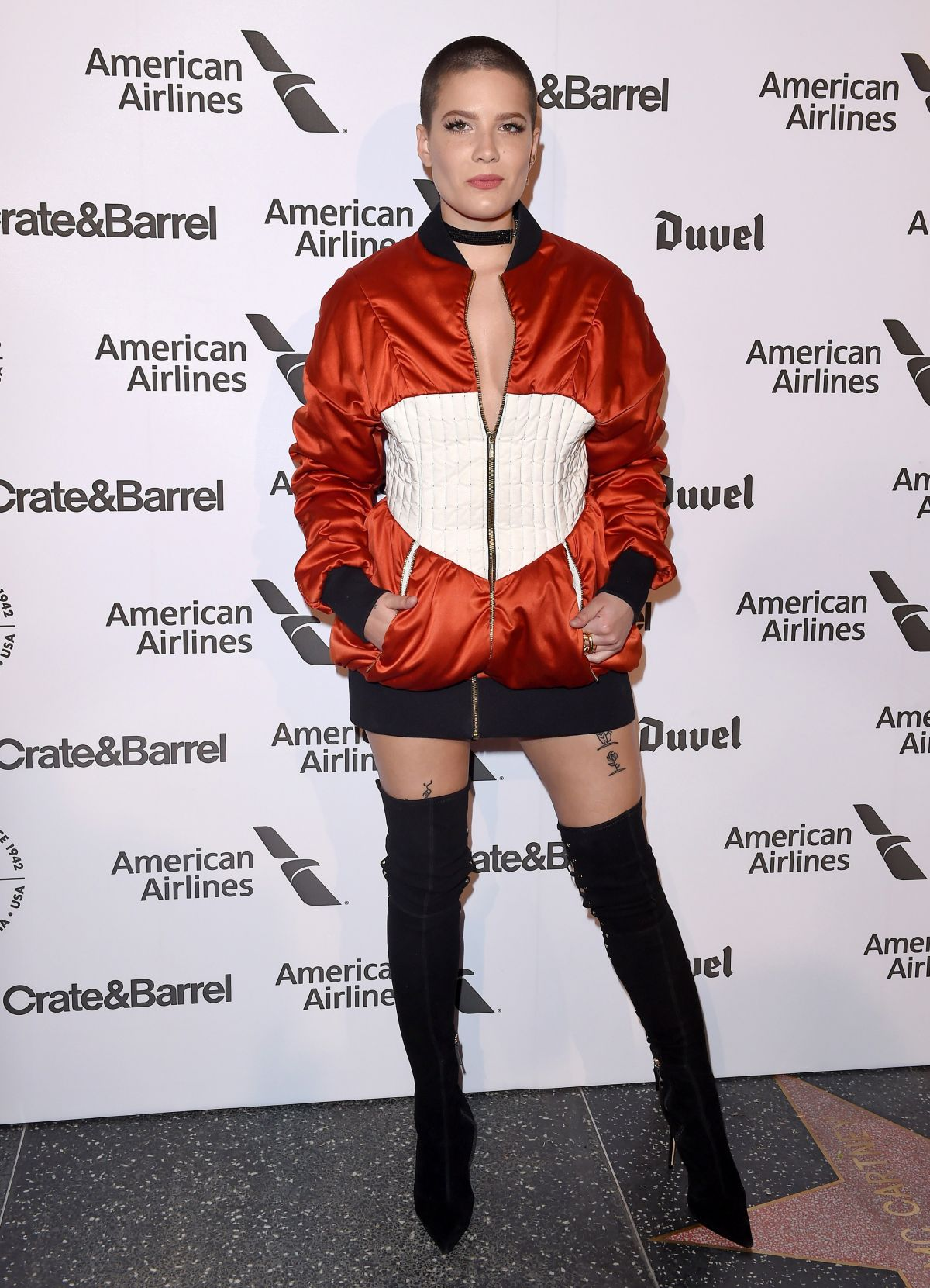 HALSEY at Capitol Records 75th Anniversary Gala in Los Angeles 11/15/2016