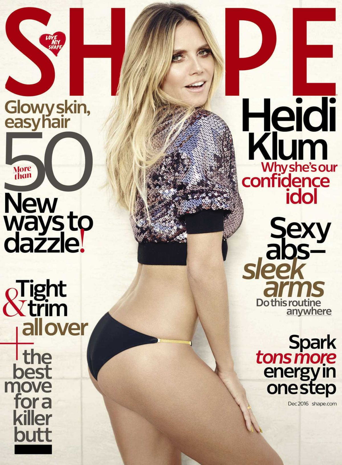 HEIDI KLUM in Shape Magazine, December 2016