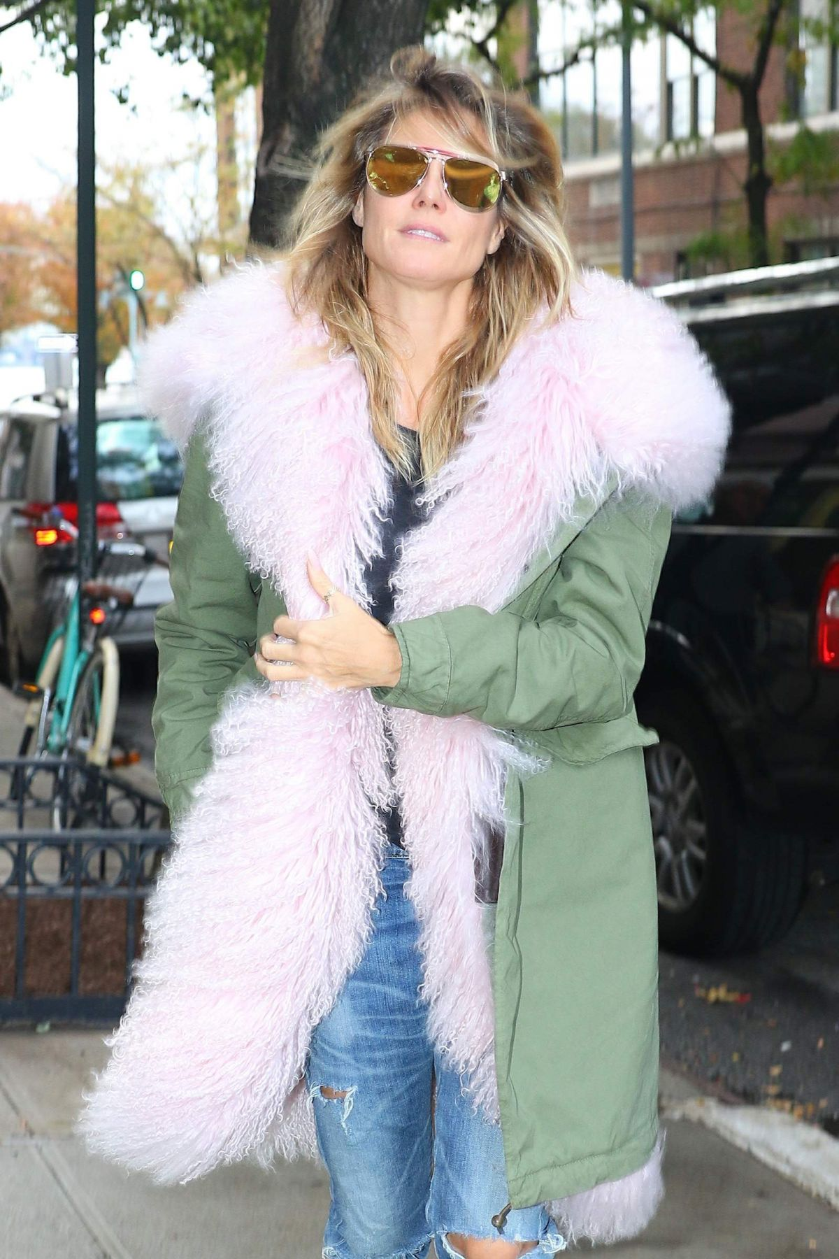 HEIDI KLUM Out and About in New York 11/01/2016