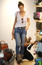 HEIDI KLUM Shopping at Burton Store in West Hollywood 11/23/2016