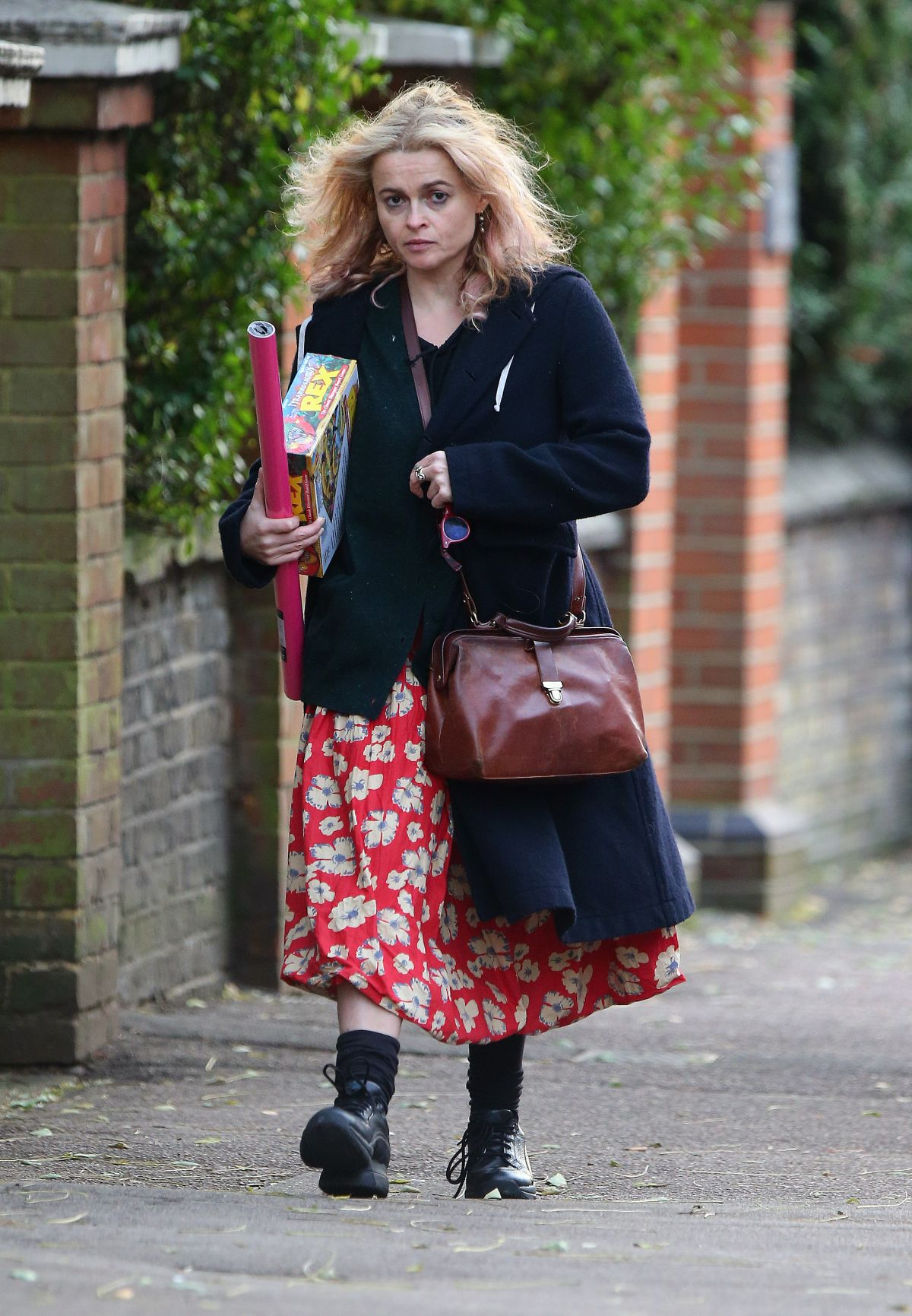 HELENA BONHAM CARTER Out Shopping in London 11/26/2016
