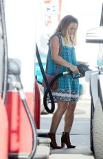 HILARY DUFF at a Gas Station in Beverly Hills 11/10/2016