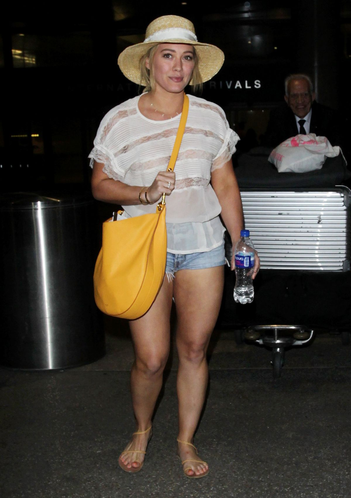 HILARY DUFF at Los Angeles International Airport 11/13/2016