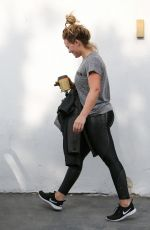 HILARY DUFF Leaves a Gym in West Hollywood 11/16/2016