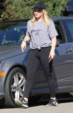 HILARY DUFF Out and About in Beverly Hills 11/08/2016