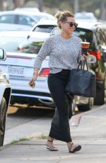 HILARY DUFF Out for Lunch in Studio City 11/16/2016