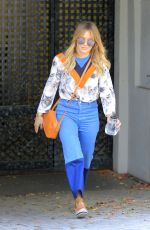 HILARY DUFF Out Shopping in Beverly Hills 11/22/2016