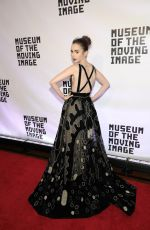 LILY COLLINS at Museum of the Moving Image 30th Annual Salute in New York 11/02/2016