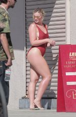 ISKRA LAWRENCE in Bikini on the Set of a Photoshoot in Venice Beach 11/02/2016