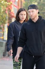 IRINA SHAYK and Jason Walsh Out in West Hollywood 11/21/2016