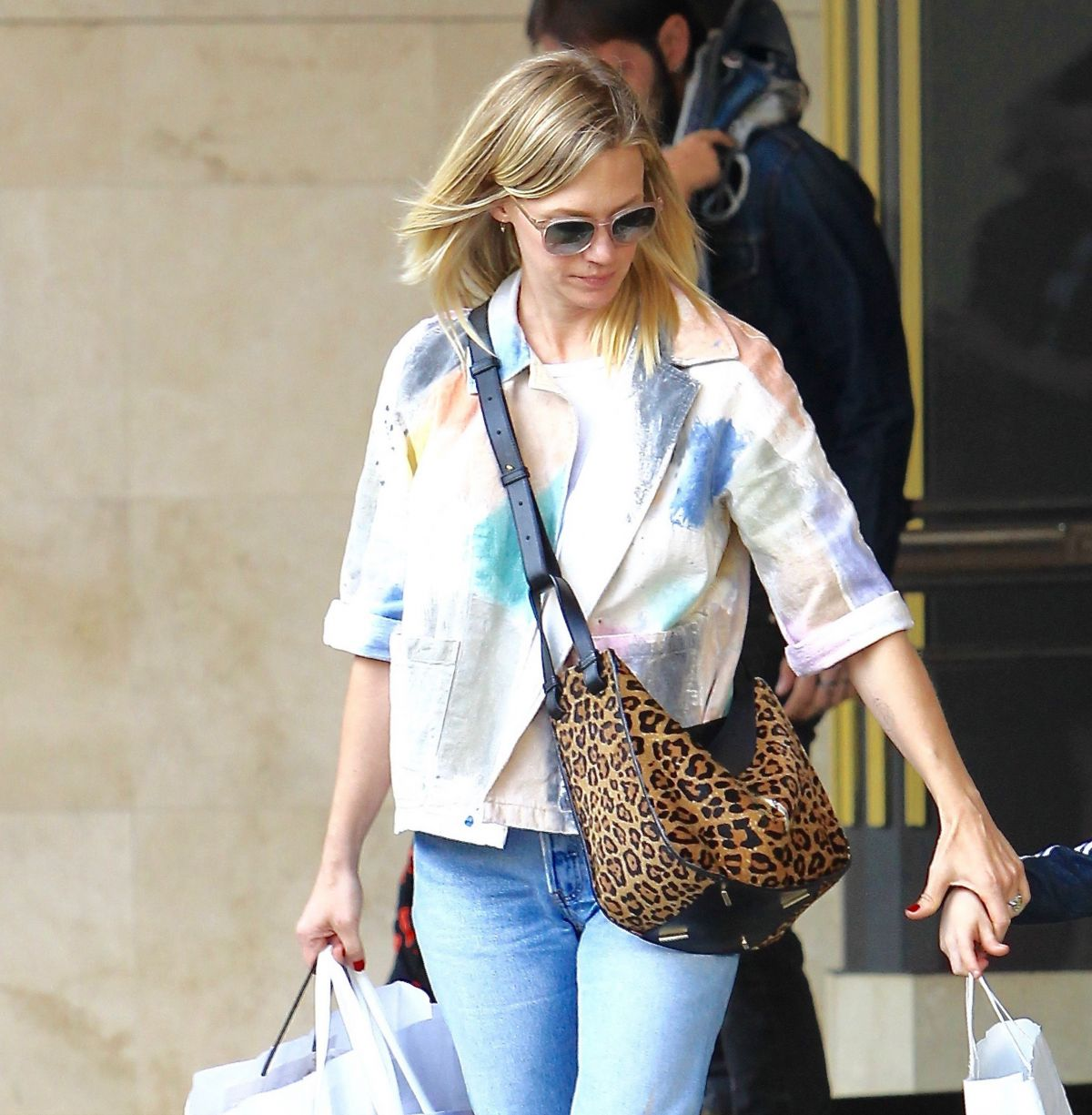 JANUARY JONES Shopping at The Grove in Los Angeles 11/19/2016