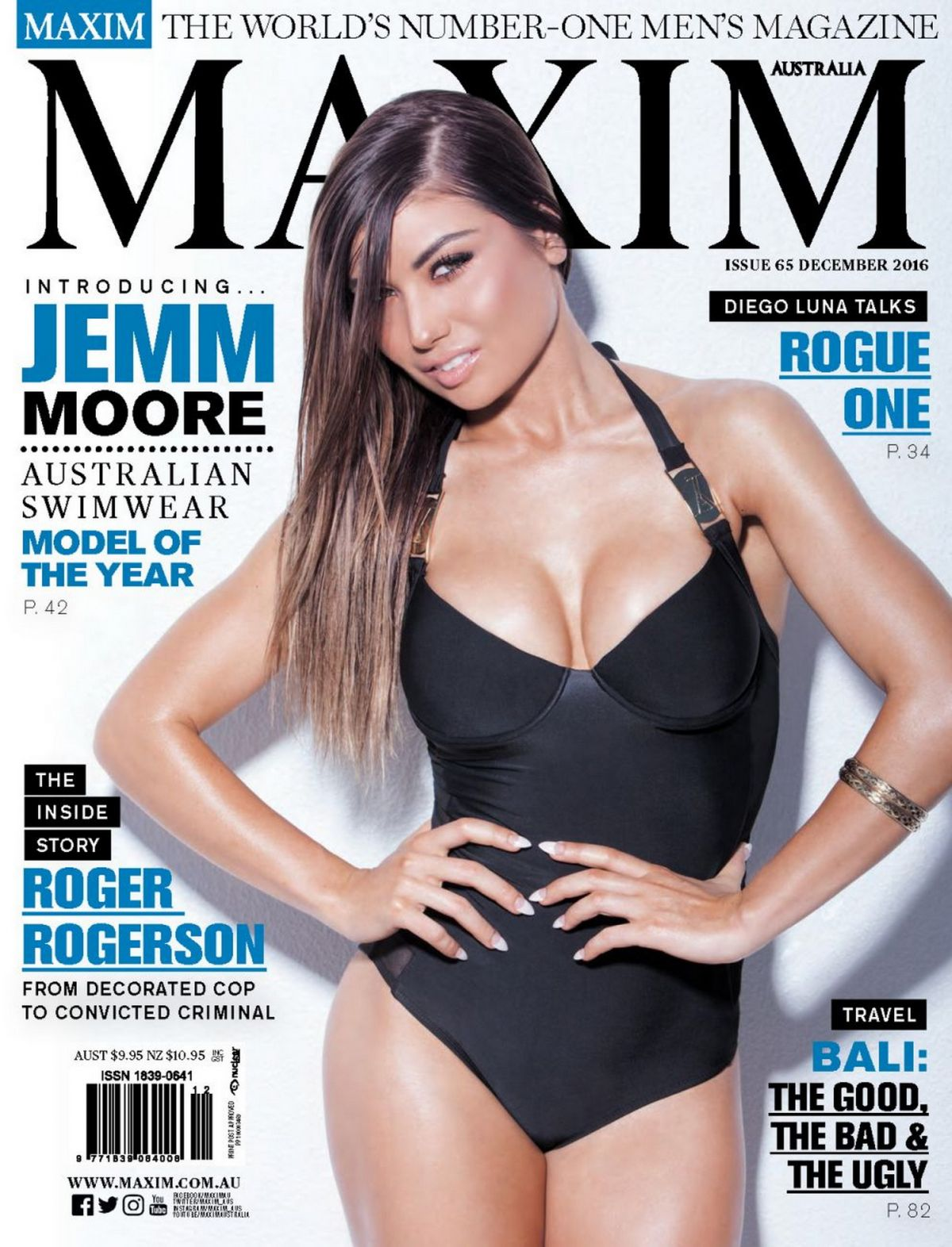 JEMM MOORE in Maxim Magazine, Australia Nnovember 2016 Issue