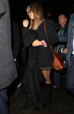 JENNIFER ANISTON at Chiltern Firehouse in London 11/21/2016